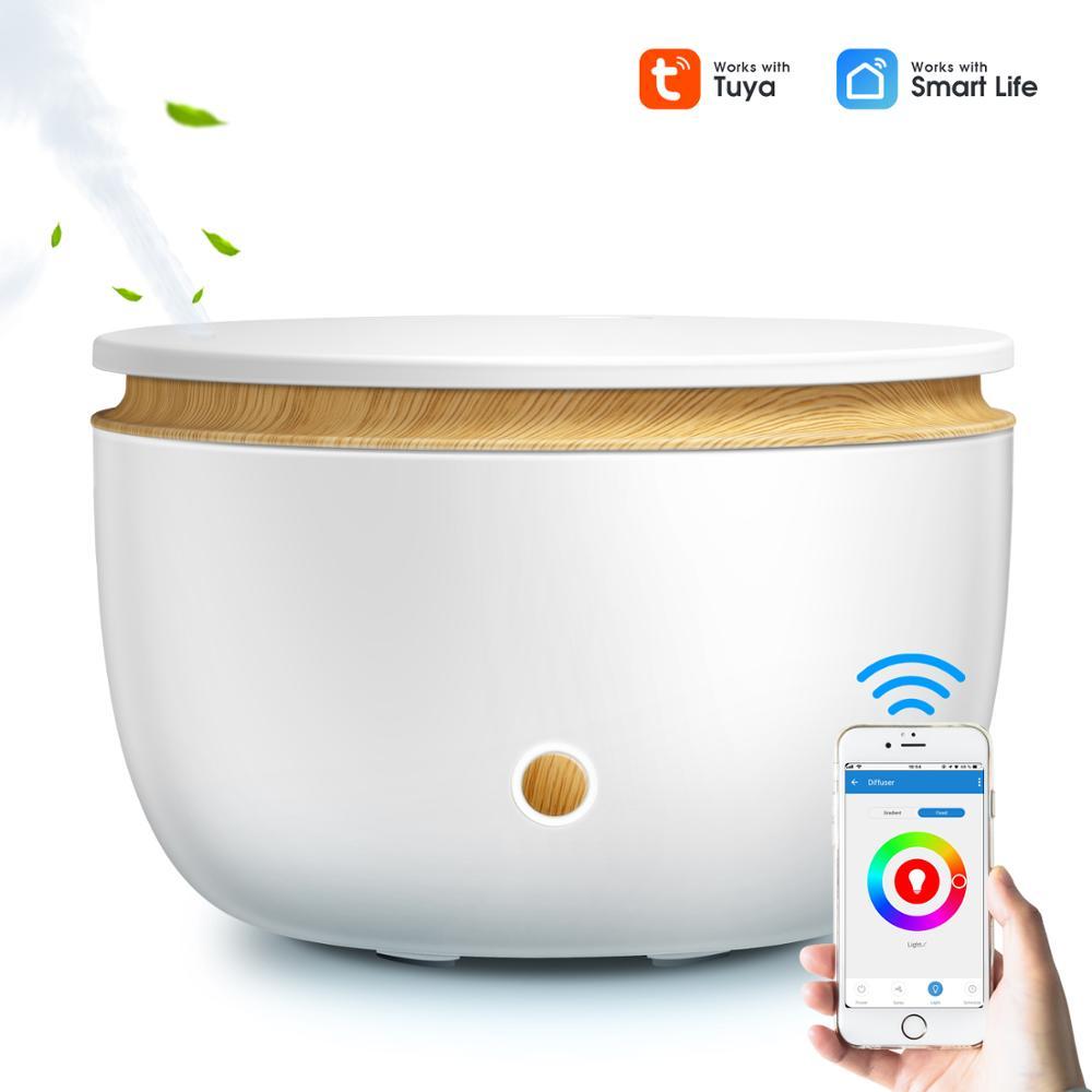 GXDiffuser Smart Wifi Wireless Oil Diffuser Air Humidifier App Voice Control Aromatherapy Diffuser With Amazon Alexa Google Home