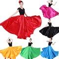10 видов цветов юбки фламенко для женщин, испанский танцевальный Цыганский хор живота, взрослые однотонные сценические выступления, женское...