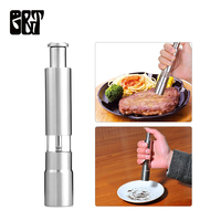 10pcs to Canada GT Stainless Steel Pepper Grinder Salt and Pepper Mill Props Hand Shaker Stainless Steel Peppers Grinder Manual