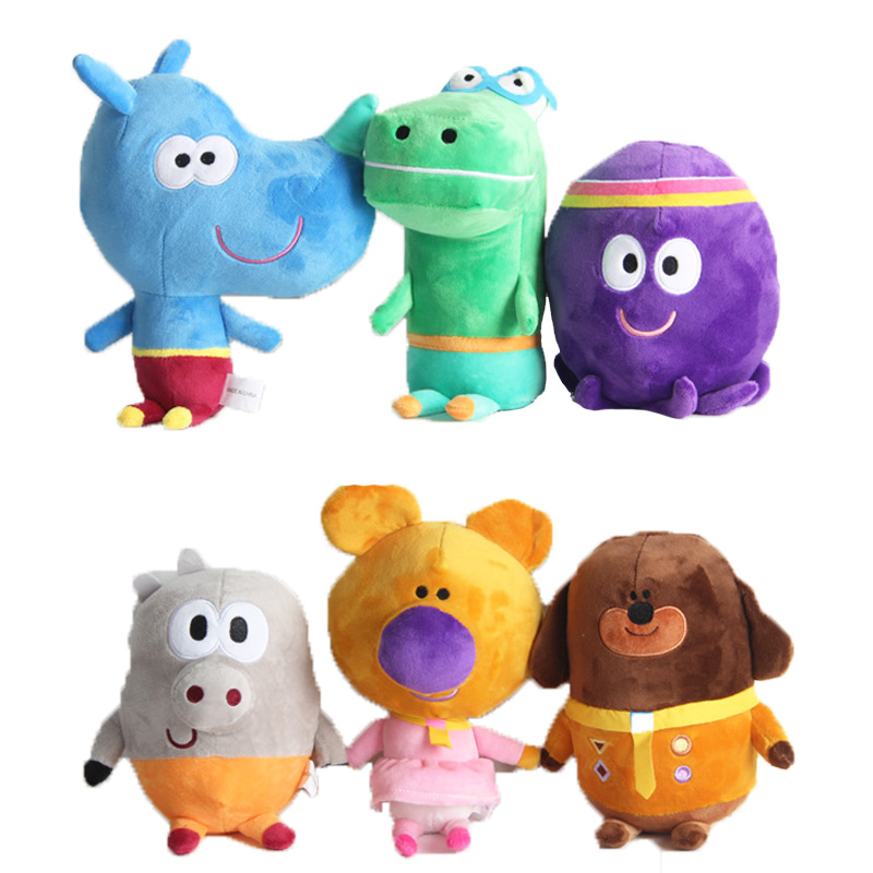 35-48cm Hey Duggee  Plush Toy Dog Norrie Betty Tag Happy Pig Stuffed Plush Doll Children Christmas Gifts