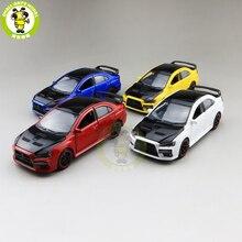 Модель автомобиля jackiфотовспышки Mitsubishi Lancer EVO X 10 BBS RHD с черной крышей, модель автомобиля, игрушки для детей, 1/32