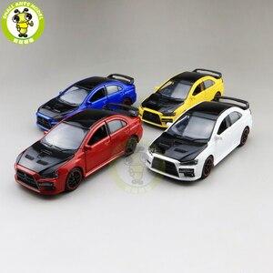 Image 1 - Модель автомобиля jackiфотовспышки Mitsubishi Lancer EVO X 10 BBS RHD с черной крышей, модель автомобиля, игрушки для детей, 1/32