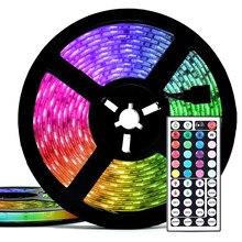 5M/10M Tira CONDUZIDA RGB USB 5050 Luzes LED SMD 0.5/1/2/3M Faixa Luz Com Controle Remoto de Desktop de Férias Luz de Fundo TV Quarto papel de Parede
