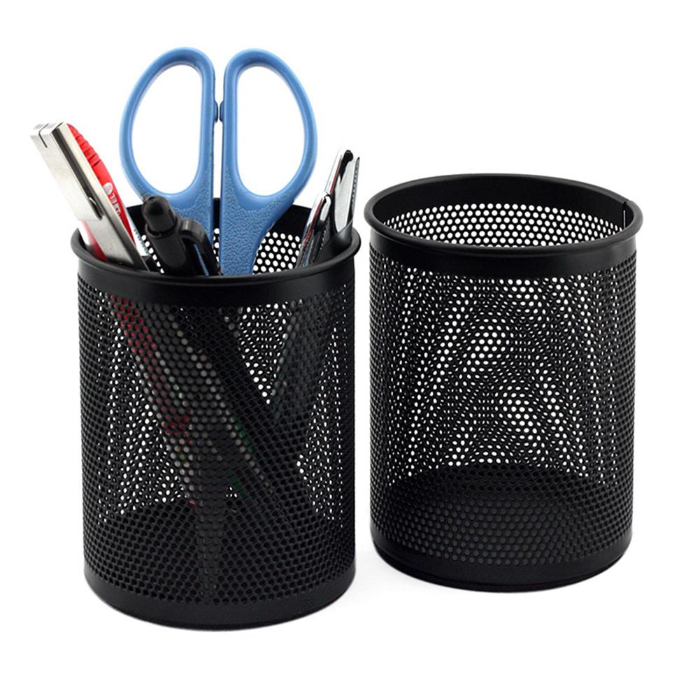 Round Mesh Pencil Pen Stationery Holder Container Organizer Office Supplies Lightweight And Portable, Sleek Versatile Look Epoxy