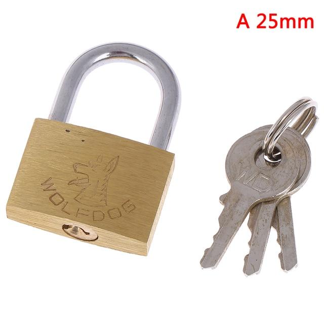 40mm Wolf Dog Head Copper Padlock Brass Lock Small Locks Door Locks with keys