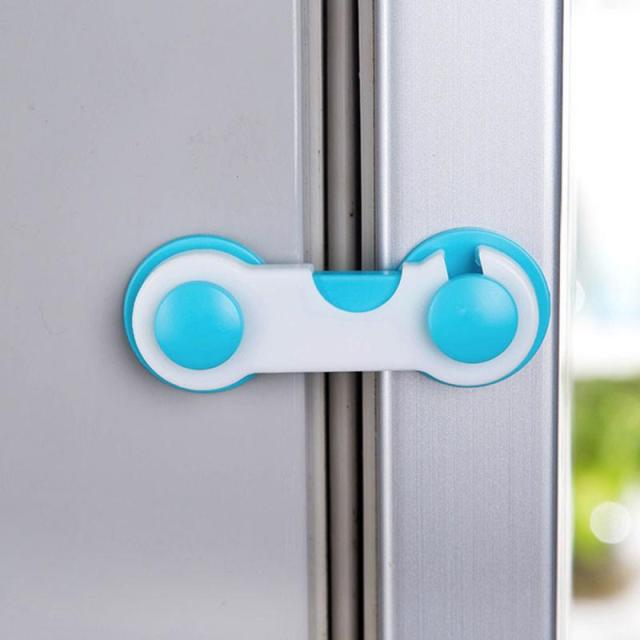 1pcs Baby Safety Cabinet Locks Kids Care Plastic Lock Kids Plastic Protection Kids Safety Door Locks Baby Protection 2