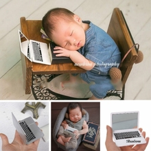 Mini Laptop Props Newborn Photography Props Infant Shooting Accessories Creative Props Baby Photo Small Props Novel Decorations