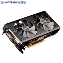 Sapphire AMD Radeon RX580 4GB Grafikkarten Gaming PC Video Karte RX580 256bit 4GB GDDR5 Desktop Verwendet RX580 PCI Express 3,0