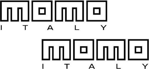 Para 2 x momo-italien logotipo adesivo grafik, aufkleber farben auswahl