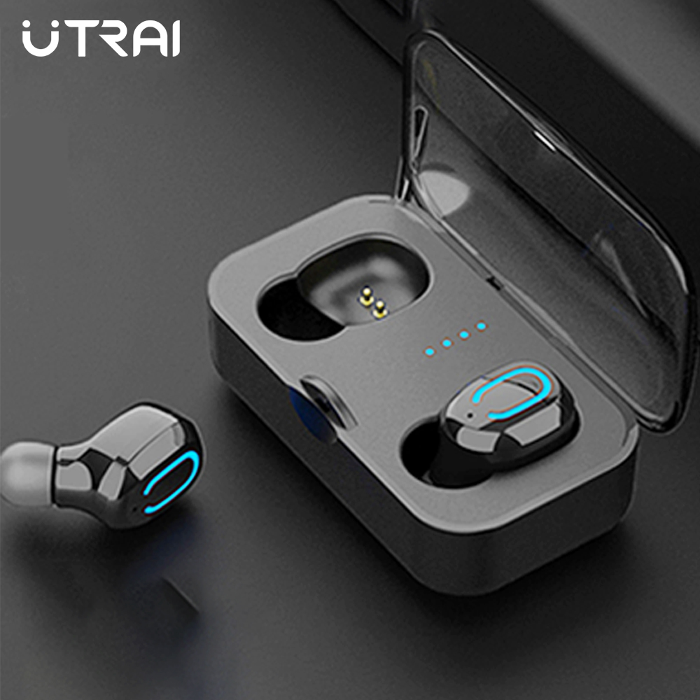 UTRAI Earphones Bluetooth 5.0 Wireless Headset TWS Sports Headset Earbuds Stereo With Microphone For Xiaomi Phone Gaming Headset