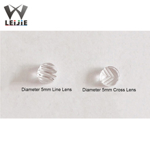 10pcs PMMA 5mm Diameter 60° 60 Degrees/90° 90 Degrees Line Lens Laser Lens PMMA Optical Lens for LD Light Laser Module