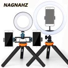 Led selfie リングライト 6/8/10 インチ調光可能な 3200 5500 18k リングライト写真撮影ランプ youtube のビデオメイクフォトスタジオ照明