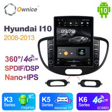 Автомагнитола Ownice 2 Din на Android 10,0 для HYUNDAI I10 2008-2013, автомагнитола с GPS-навигацией, мультимедиа, DSP 360, панорама