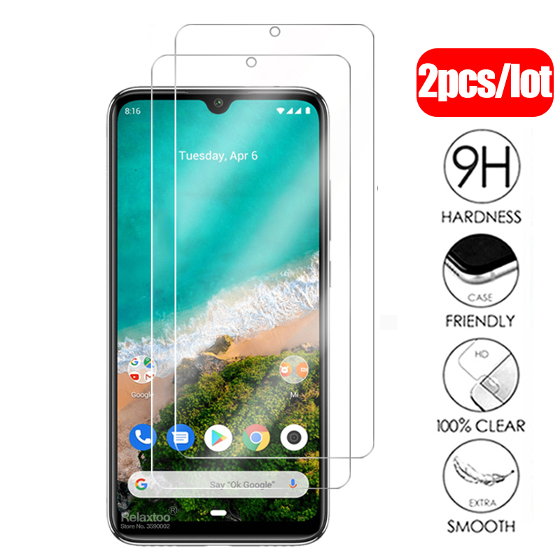 2pcs Tempered Glass For Xiaomi Mi A3 Screen Protector On Xiomi Mi A3 Mia3 A 3 3a Xiaomia3 Protective Glas Safety Protection Film