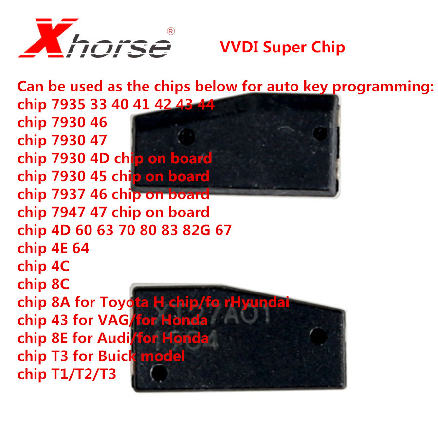 Xhorse VVDI Super Chip XT27A01 XT27A66 Chip Arbeit für VVDI2/VVDI Schlüssel Werkzeug/VVDI MINI Schlüssel Werkzeug