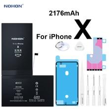 Bateria Nohon dla iPhone X iPhoneX 2716mAh pojemność wbudowana Bateria litowo-polimerowa dla Apple iPhone X iPhoneX baterie + narzędzia 2020