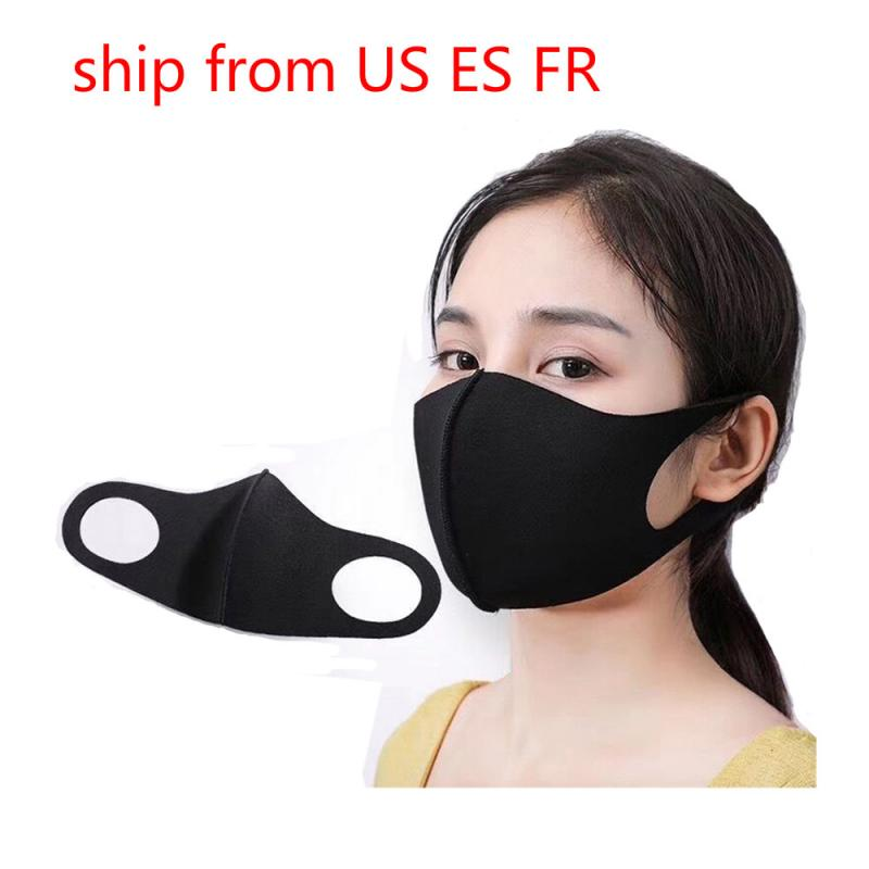 Anti-fog Antidust 3D Mask Cotton Thin Personality Dustproof Earloop Face Mouth Mask Breathable Protective Mask Toiletry Kits