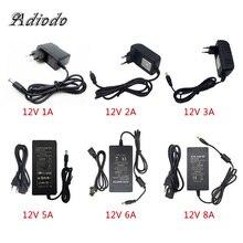 110-240 в адаптер переменного тока в постоянный 12 В 1A 2A 3A 4A 5A 6A адаптер питания зарядное устройство Универсальный импульсный источник питания 12 вольт светодиодный светильник
