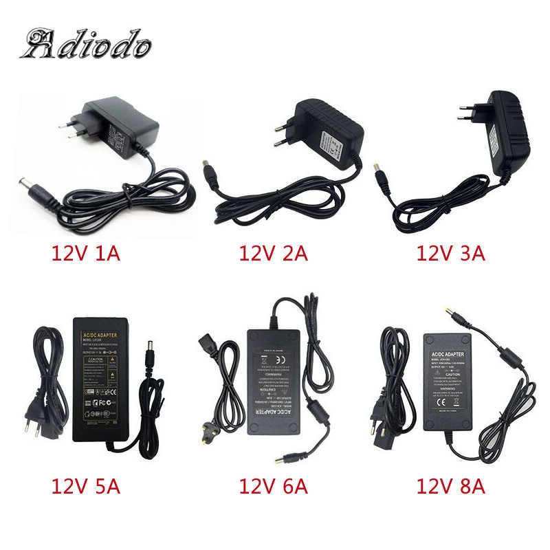 110-240V AC To DC Adapter 12V 1A 2A 3A 4A 5A 6A Power Adaptor Charger Universal Switching Supply 12 Volt LED Light Strip Plug