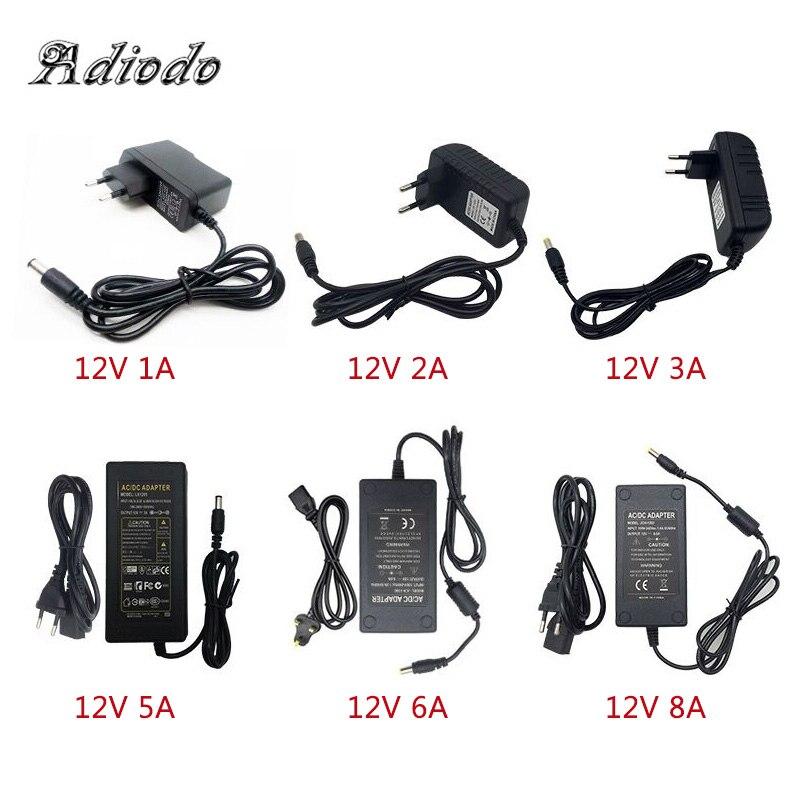 110-240V AC に DC アダプタ 12 V 1A 2A 3A 4A 5A 6A 電源アダプター充電器ユニバーサルスイッチング電源 12 ボルト Led ライトストリッププラグ