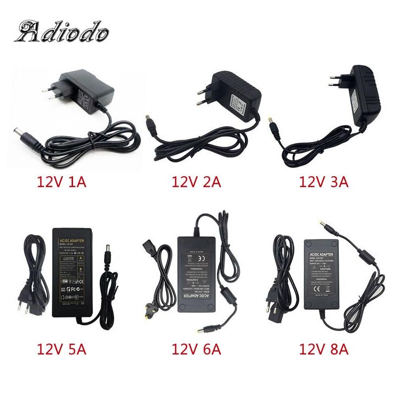 110-240V AC To DC Adapter 12V 1A 2A 3A 4A 5A 6A Power Adaptor Charger Universal Switching Supply 12 Volt LED Light Strip Plug