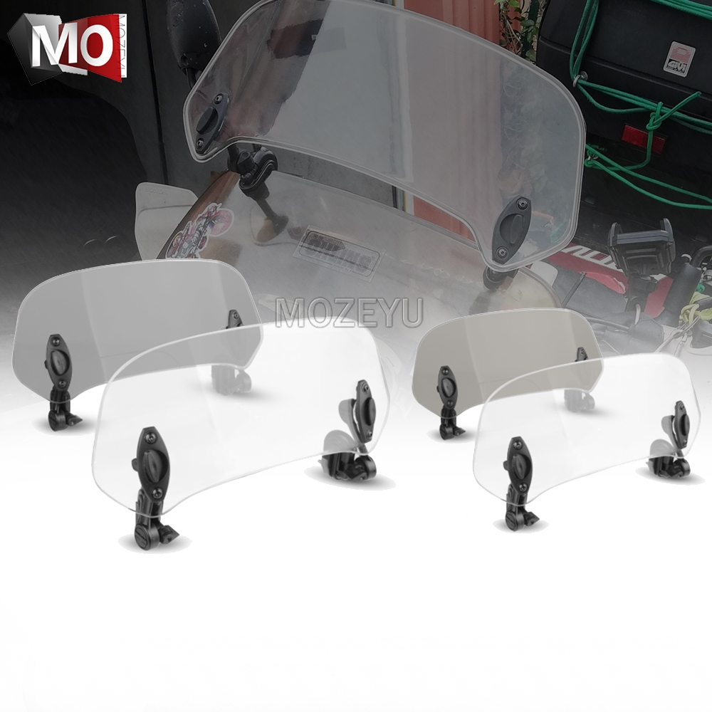 Motorcycle Windshield Extension Spoiler <font><b>Windscreen</b></font> Air Deflector For <font><b>Suzuki</b></font> GSX1250 F/SA/ABS GSX1250FA GSX250R GSX1300BK <font><b>GSX650F</b></font> image