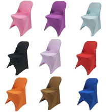 100PCS/Lot Universal White Armchair Chair Covers Spandex stretch Elastic Lycra Hotel Banquet Party Wedding Chair Covers