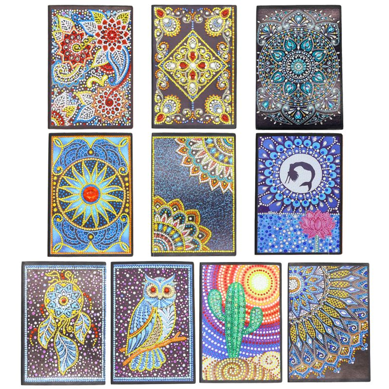 Creative DIY Diamond Painting Special Shaped Notebook Diary Book A5 Embroidery Cross Stitch Craft Gift