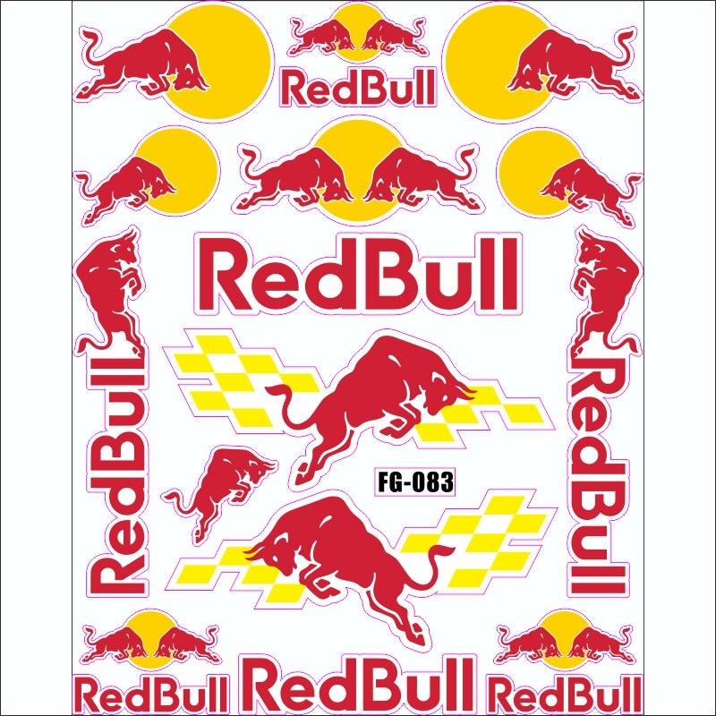 Bicycle Motocross Motorcycle Helmet Stikers For Red Bull Emblem Badge Gloves Racing F1 Cap Vinyl Declas Accessories 2019