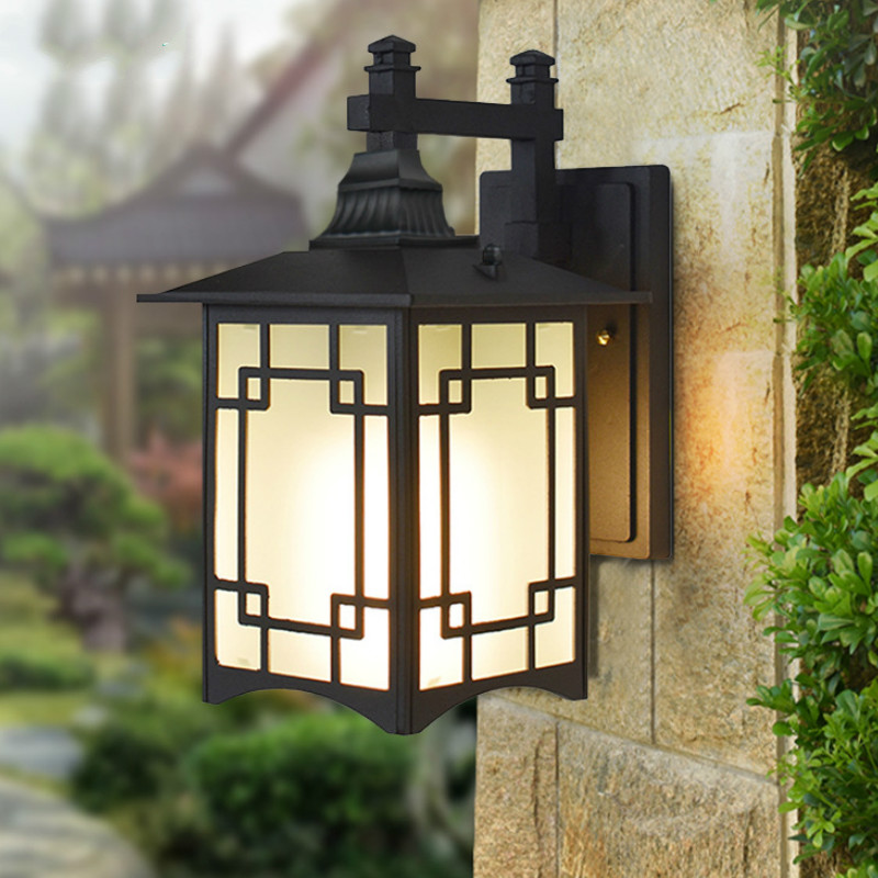 Wall Lamp Outdoor Porch Sconce Black