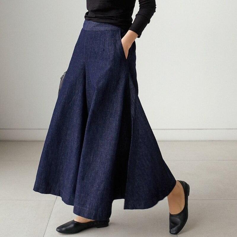 SuperAen 2020 Spring And Summer New Jeans Women Korean Style Wild High-waist Wide-leg Jeans Female Pluz Size Ladies Jeans