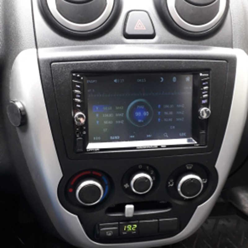 2 喧騒車の無線フレームを再装着筋膜ステレオパネル gm シボレー LADA グランタ DVD プレーヤープレートダッシュベゼルトリムキット