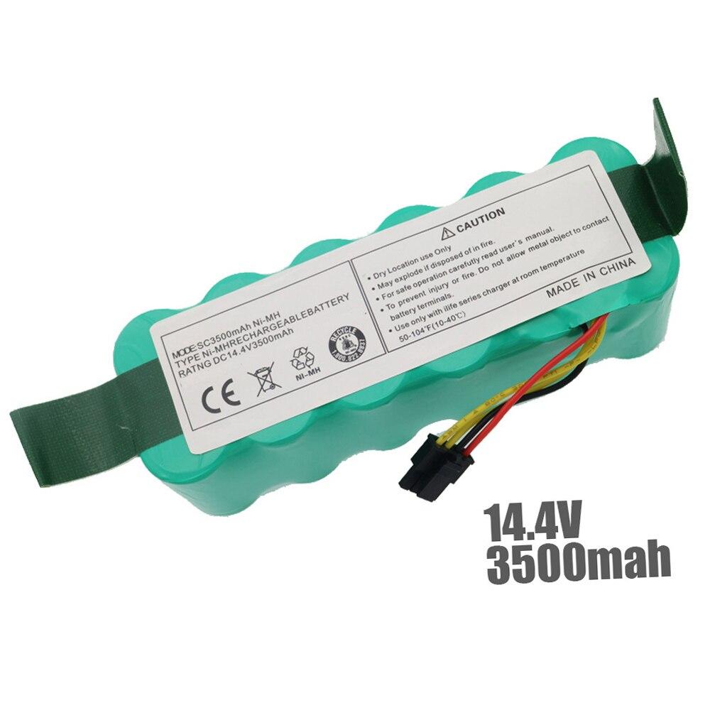 7pcs NI-MH 14.4V 3500mAh per panda X500 Batteria Batteria per Ecovacs Specchio CR120 aspirapolvere Dibea X500 x580 X600 batteria