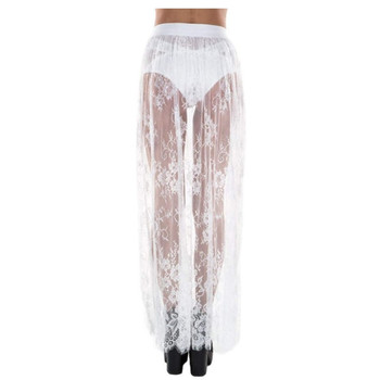 Sexy Side Slit Long Skirt For Festival/Party /Dancing Lace Tulle Mesh Skirs Petticoat 2