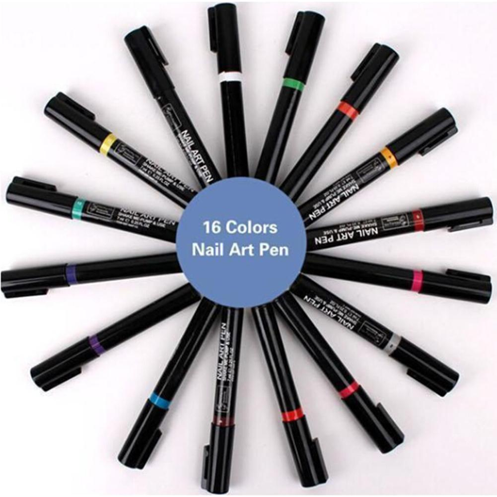 1pcs 3D Nail Polish Pen Watercolor Brush Marker Pen Nail Art Tools Marker Sketch Drawing Paint Nail Beauty Pen Art Supplies