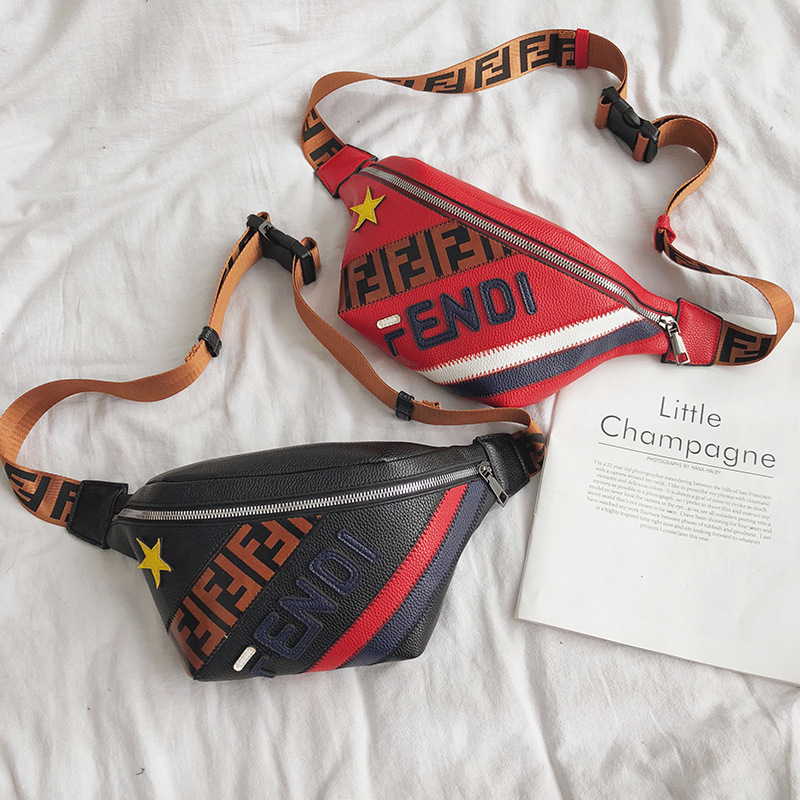 Women's Waist Bag Fashion Letter Fanny Pack PU Leather Female Belt Bag Waterproof Chest Bags Banana Waist Packs Small Pocket