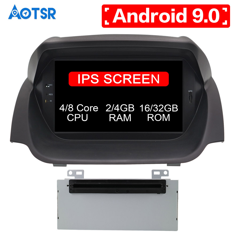 AOTSR 4G RAM Octa Core Android 9.0 Car DVD Player <font><b>GPS</b></font> Navigation Multimedia Stereo For <font><b>Ford</b></font> <font><b>Fiesta</b></font> 2013-2015 Auto Radio Audio image
