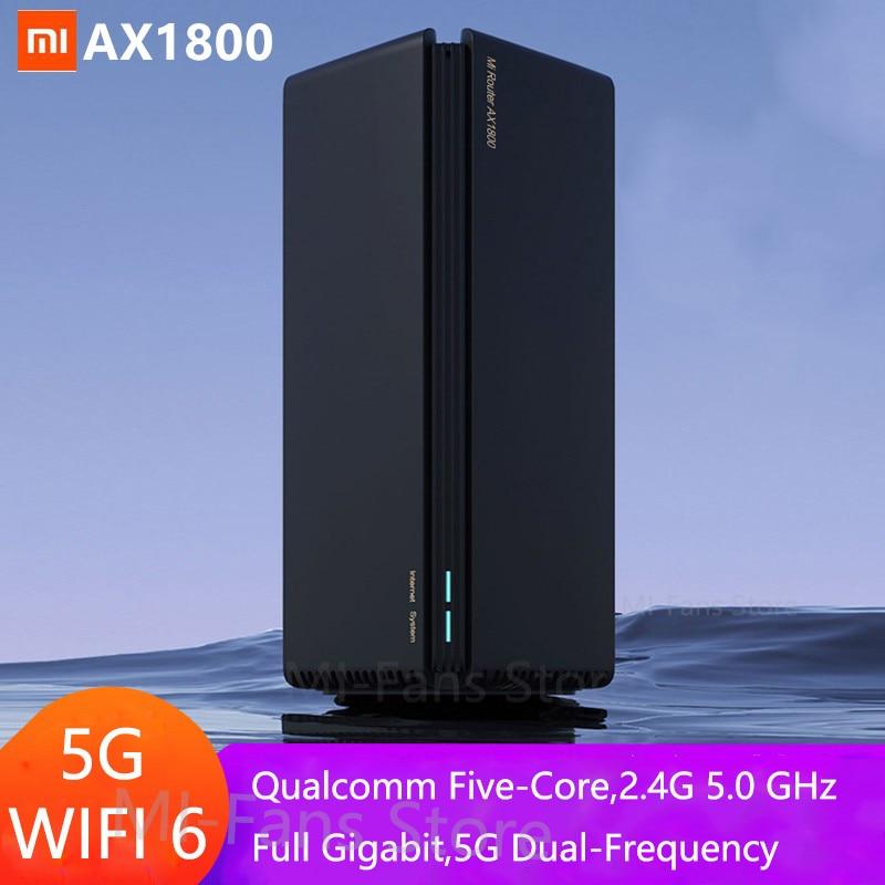 Новейший роутер Xiaomi AX1800 Wifi 6 гигабитный 2,4G 5 ГГц 5-ядерный двухдиапазонный роутер OFDMA с высоким коэффициентом усиления 2 антенны более широкий...