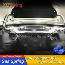 Araba arka kapı bagaj gergi çubukları kaldırma desteği hidrolik çubuk gaz bahar şok braketi Peugeot 301 için Elysee 2012 2019 hiçbir sondaj