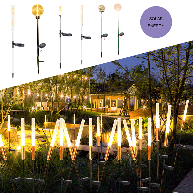 LEADLY солнечный светильник s для наружного тростника, тростниковый светильник ing газонный светильник для прогулок, патио, траектории, газона, сада, двора, светодиодный пейзаж|Газонные лампы|   | АлиЭкспресс