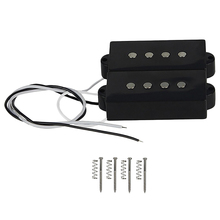 Pb P Bass Pickup Humbucker For 4 String Replacement Guitar Part, Black