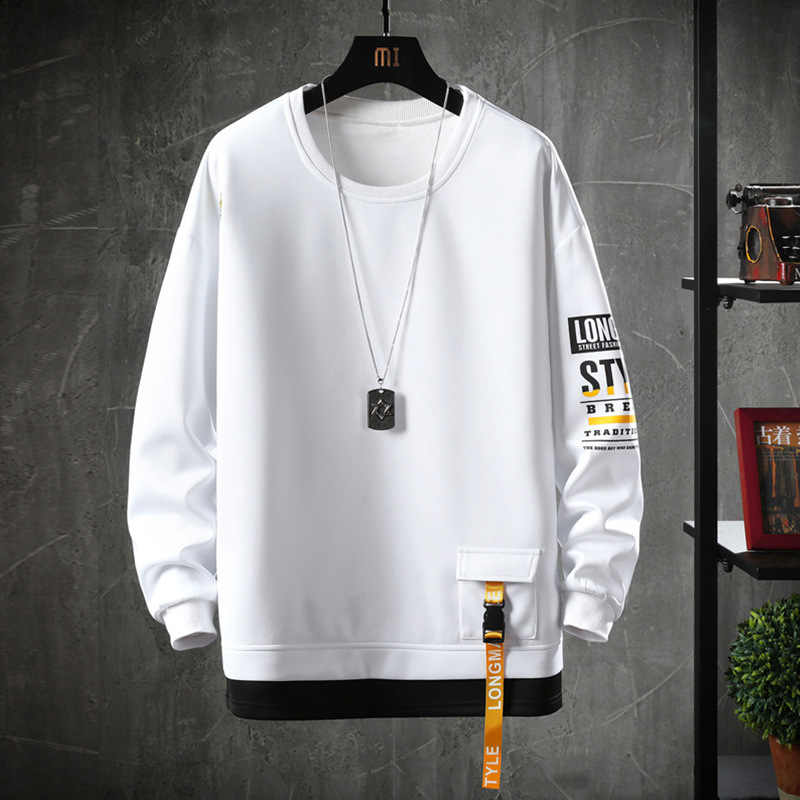 2020 Effen Kleur Sweatshirt Mannen Hoodies Lente Herfst Hoody Casual Streetwear Kleding