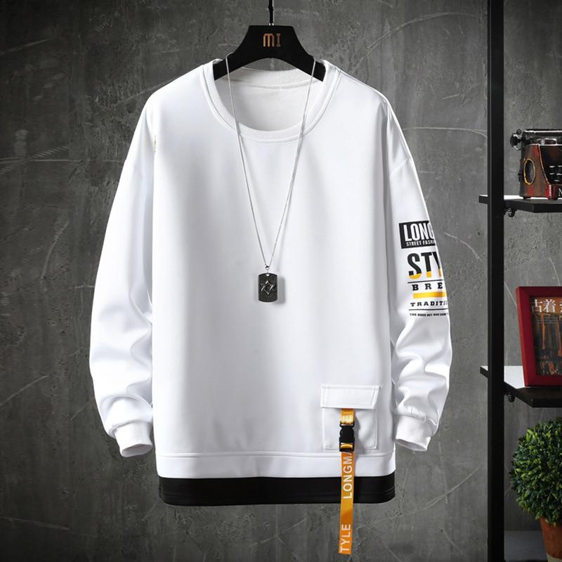 2020 Solid Color Sweatshirt Men Hoodies Spring Autumn Hoody Casual Streetwear Clothes 3