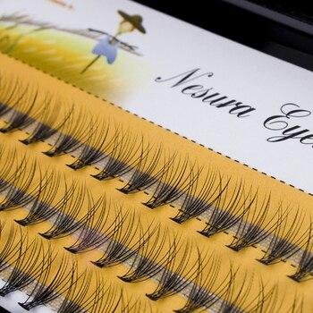 60pcs Professional Makeup Individual Cluster EyeLashes Grafting Fake False Eyelashes eyelash extension individual eyelash bunche