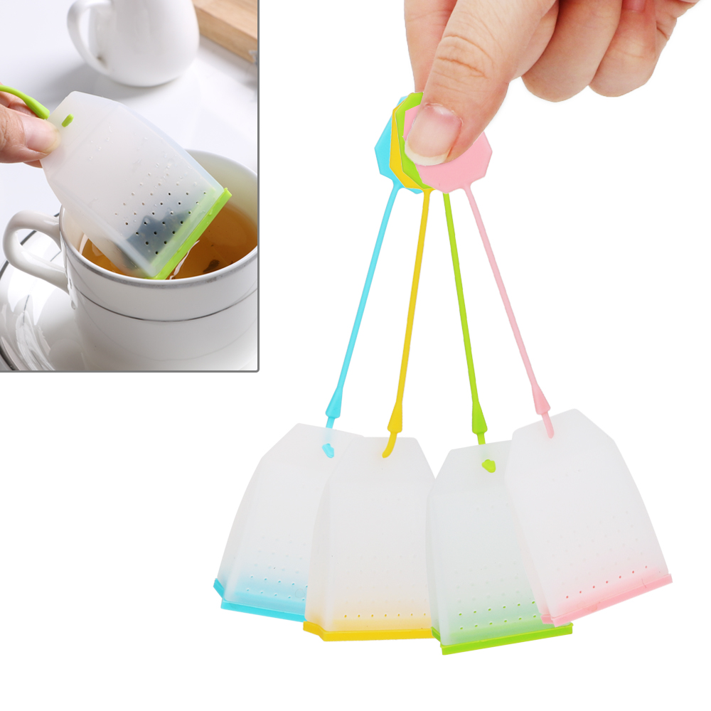 NICEYARD Herbal Tea Infusers Tea Infuser Food-grade Silicone Tea Bag High Temperature Resistance Random Color Tea Strainers
