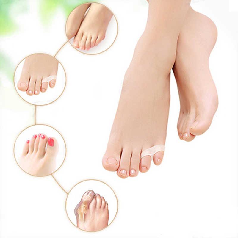 1 unidad de Gel Corrector de dedos Hallux Valgus para aliviar el dolor Pinkie separador de pulgar cuidado de los pies juanete Corrector de uñas encarnadas herramientas de pedicura
