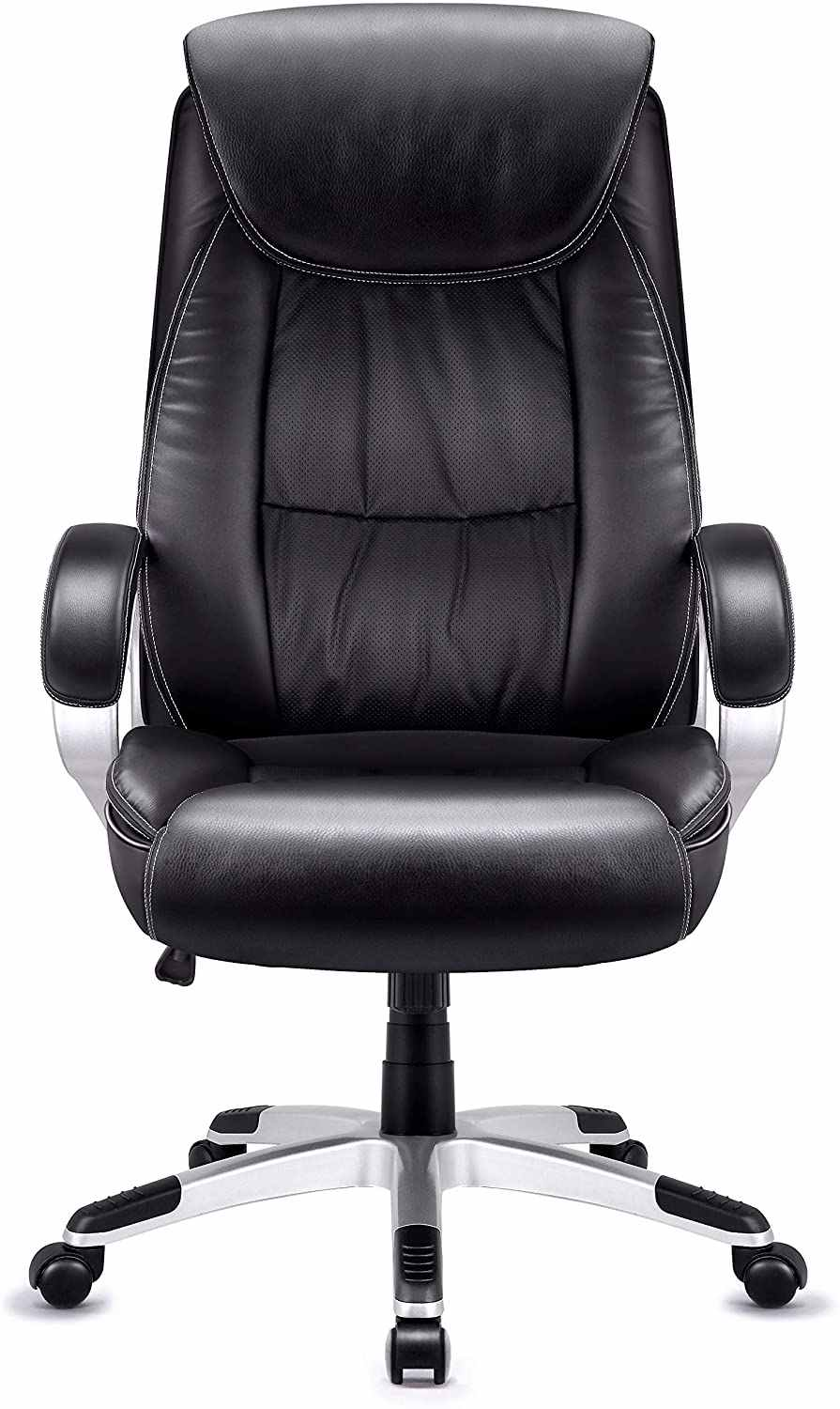 High Back Executive Office Chair Faux Leather Large Seat Computer