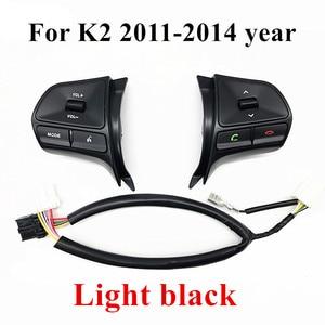 Image 2 - Рулевое колесо громкости музыки кнопки управления коммутатором с Bluetooth телефон звук для подсветки для KIA 2012 новый RIO K2