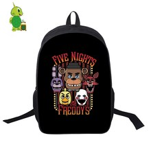 Five nights at Freddy Foxy school bags for women, men, laptop backpack for teenagers, children, casual travel backpack bags цена 2017