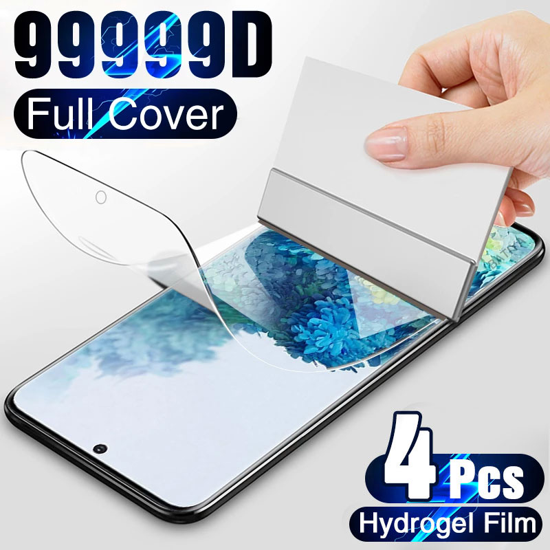4Pcs Hydrogel Film on the Screen Protector For Samsung Galaxy S10 S20 S9 S8 Plus S7 S21 Ultra Screen Protector For Note 20 9 10